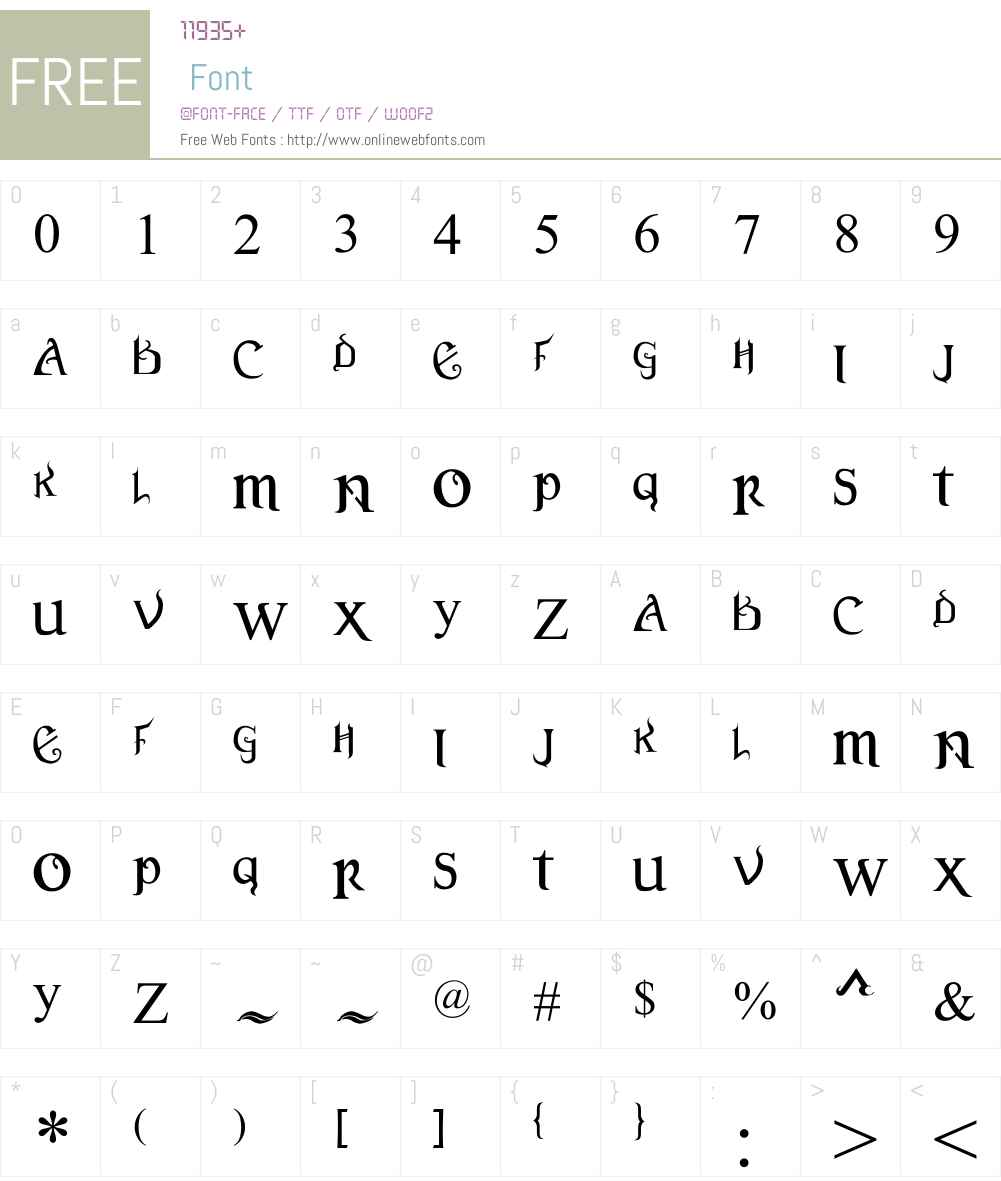 Versal Font Screenshots