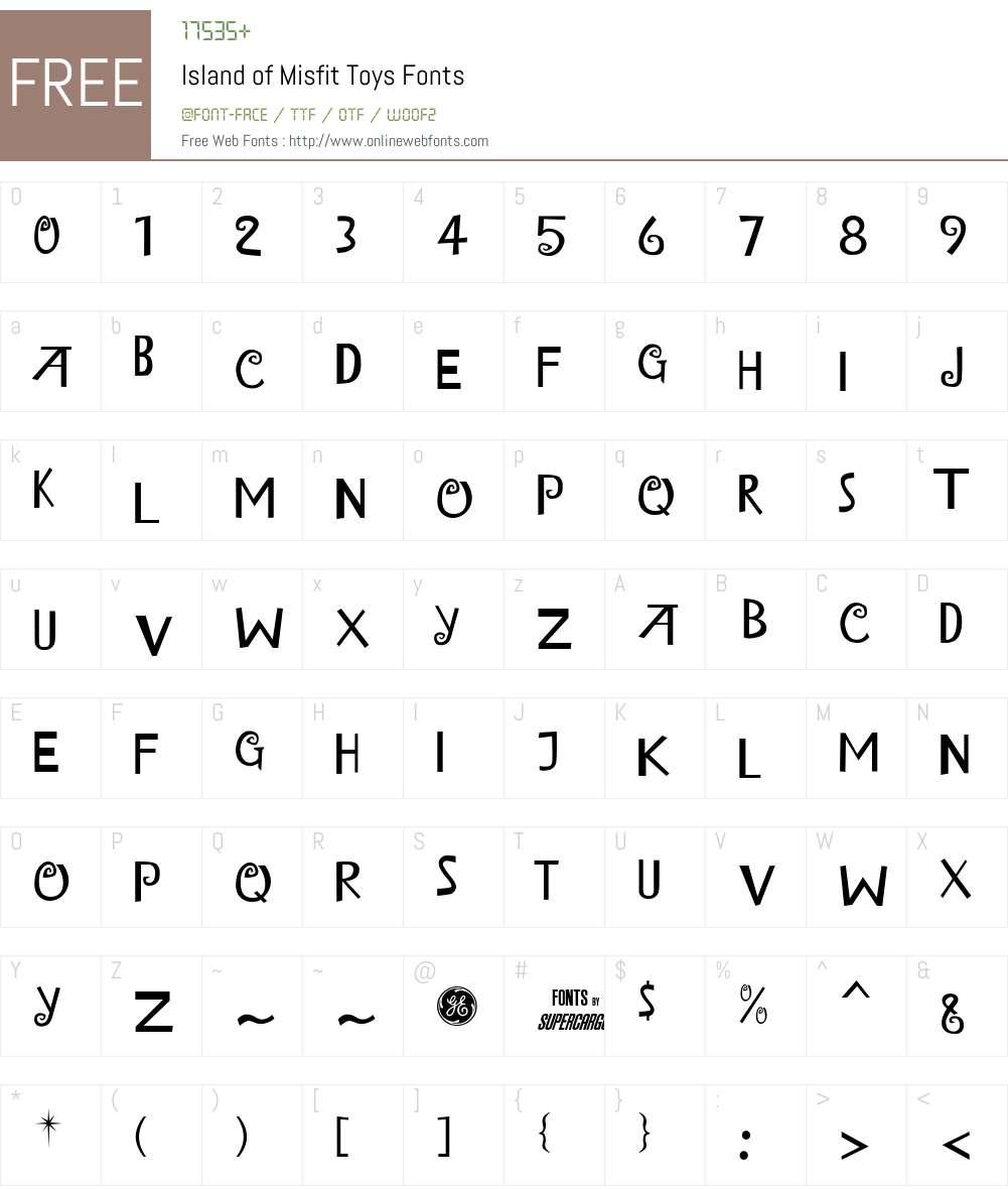 Island of Misfit Toys Font Screenshots