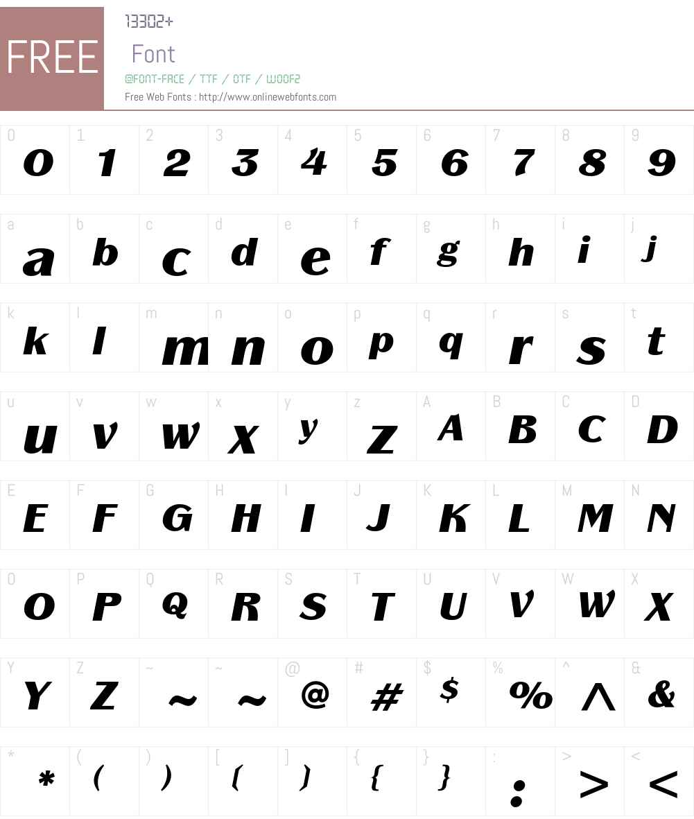 Panache ITC Std Font Screenshots