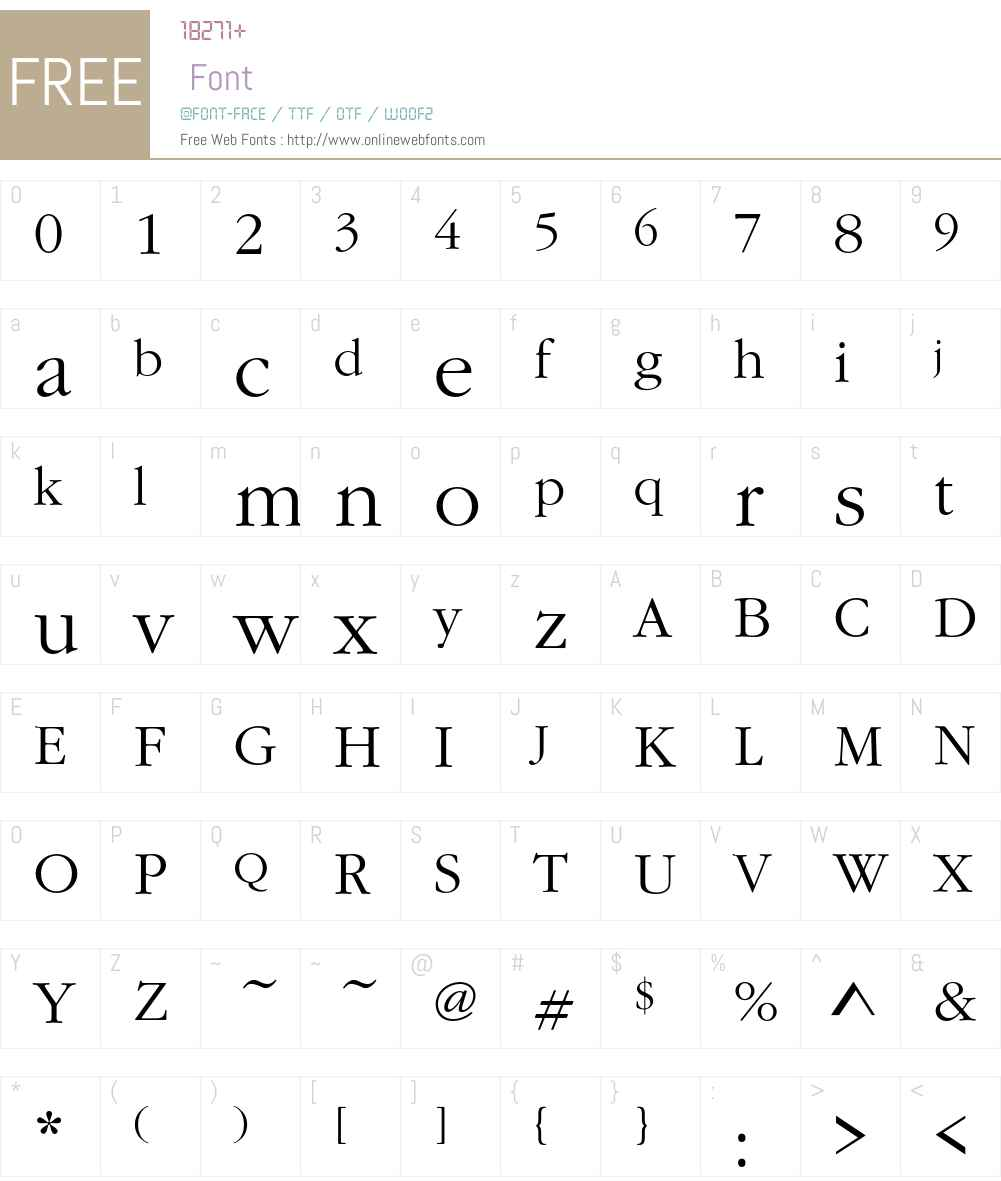 GaramItcTLig Font Screenshots