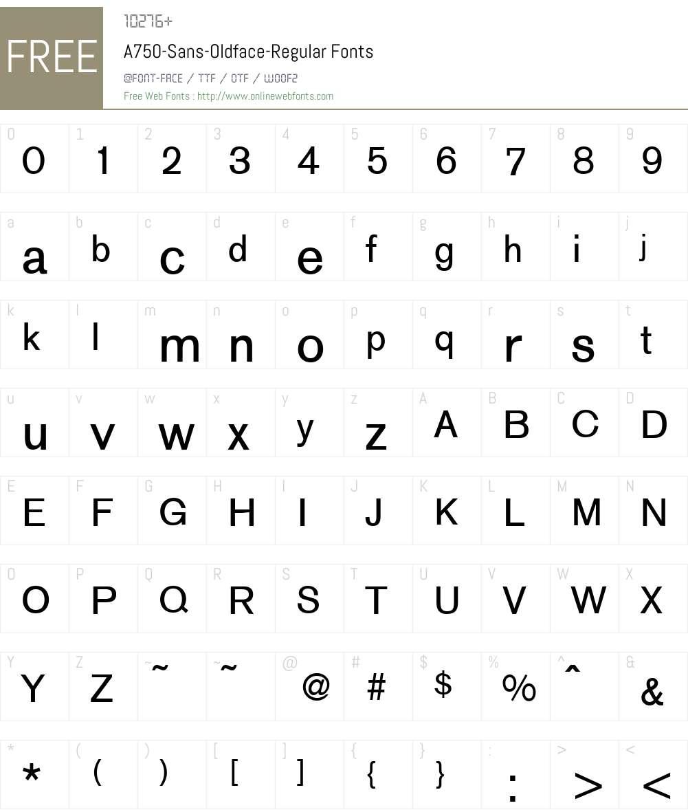 A750-Sans-Oldface Font Screenshots