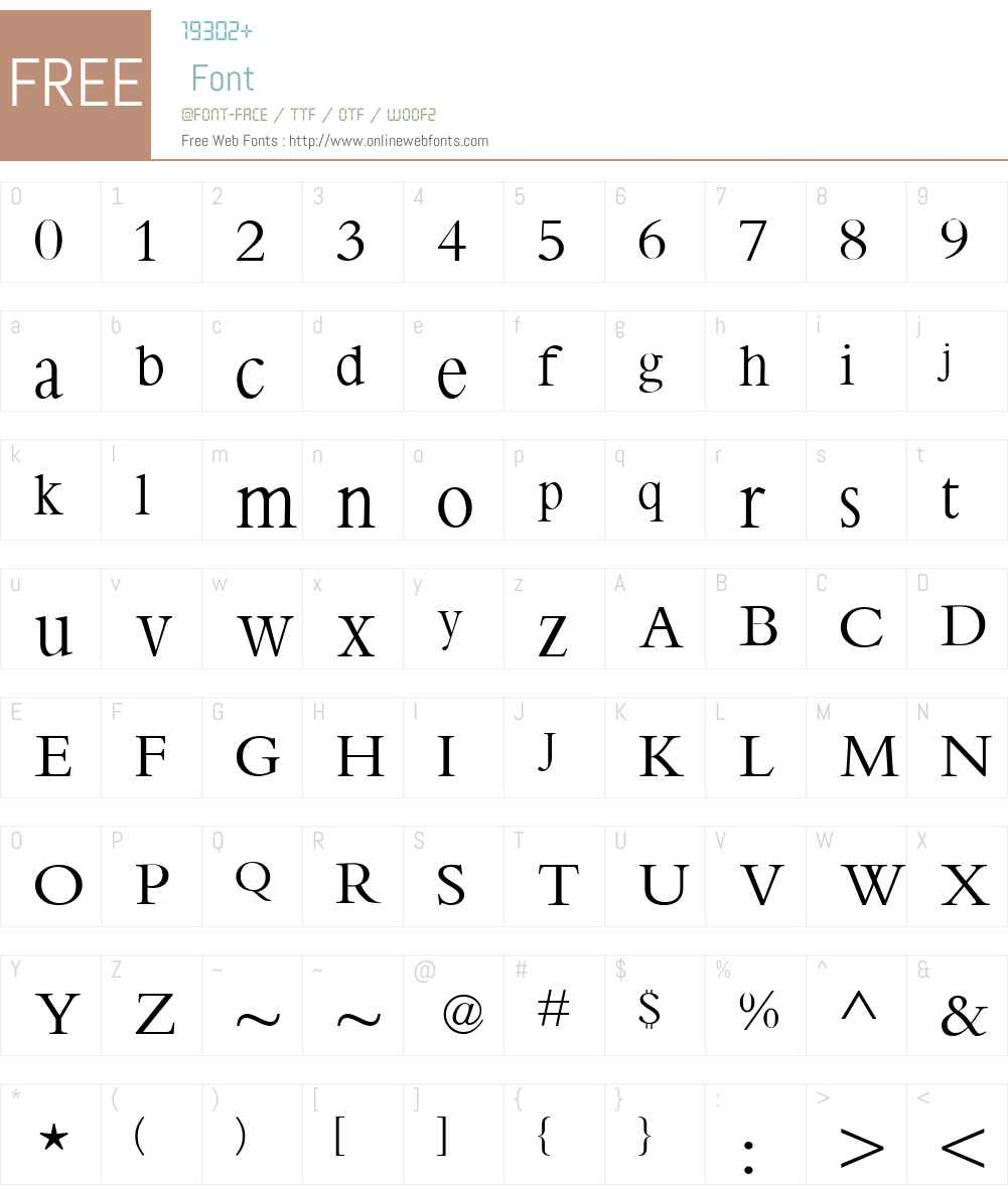 Bamboo Font Screenshots