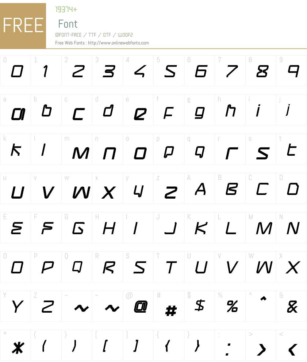 AssemblerBold Oblique Font Screenshots