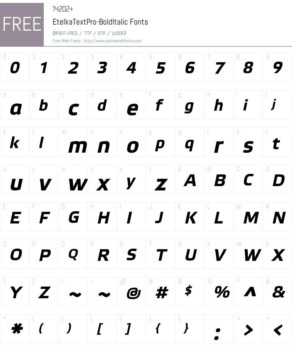 Etelka Text Pro Font Screenshots
