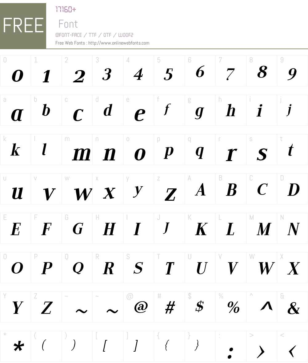 EditoW01-FItalic Font Screenshots