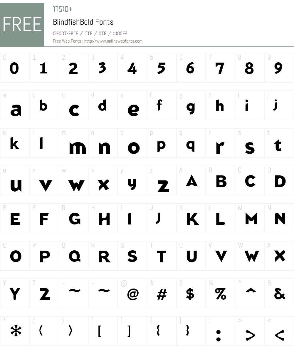 Blindfish Font Screenshots
