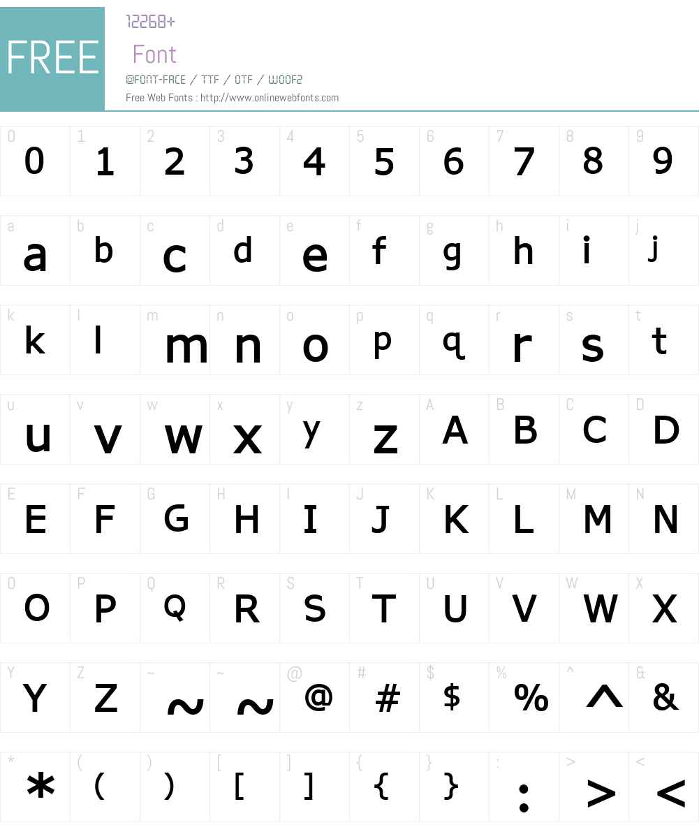 APHont Font Screenshots