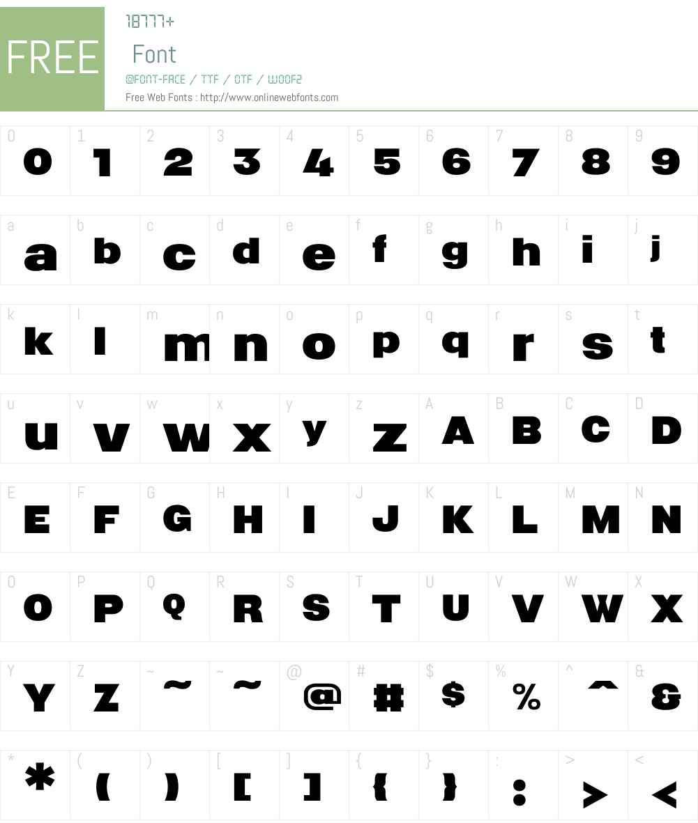 ColinSamuelsW00-Bold Font Screenshots