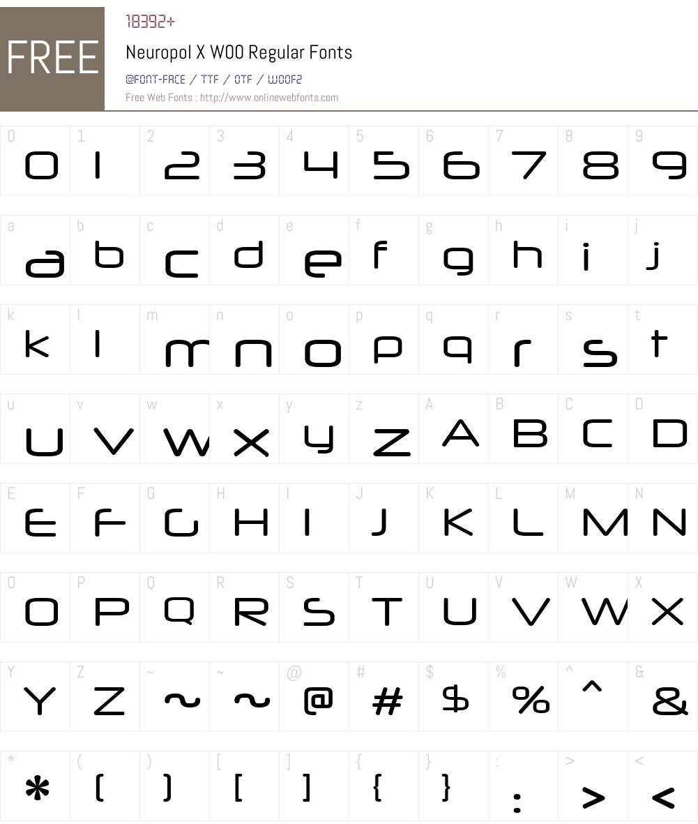 NeuropolXW00-Regular Font Screenshots