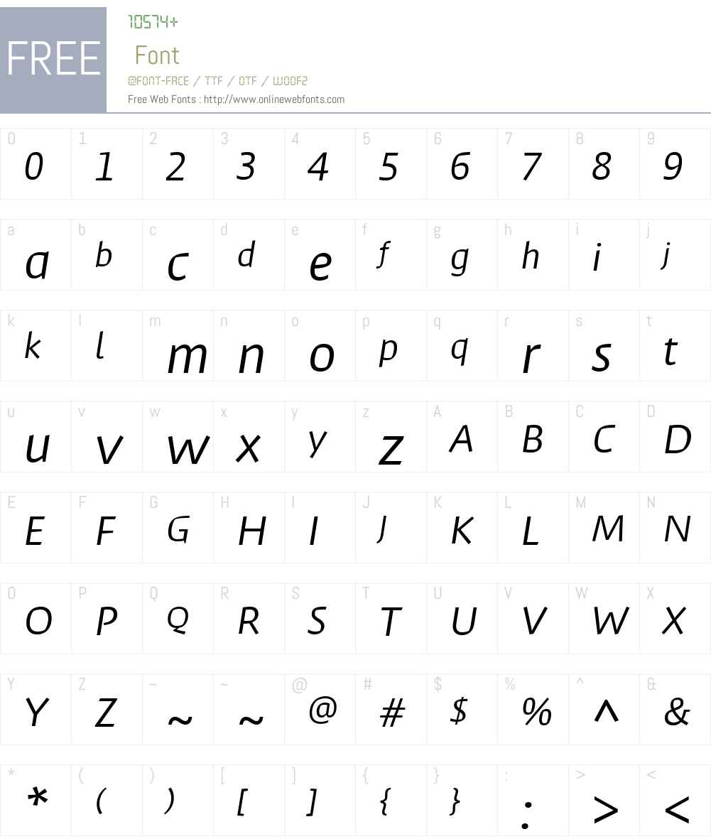 MassifW01-Italic Font Screenshots