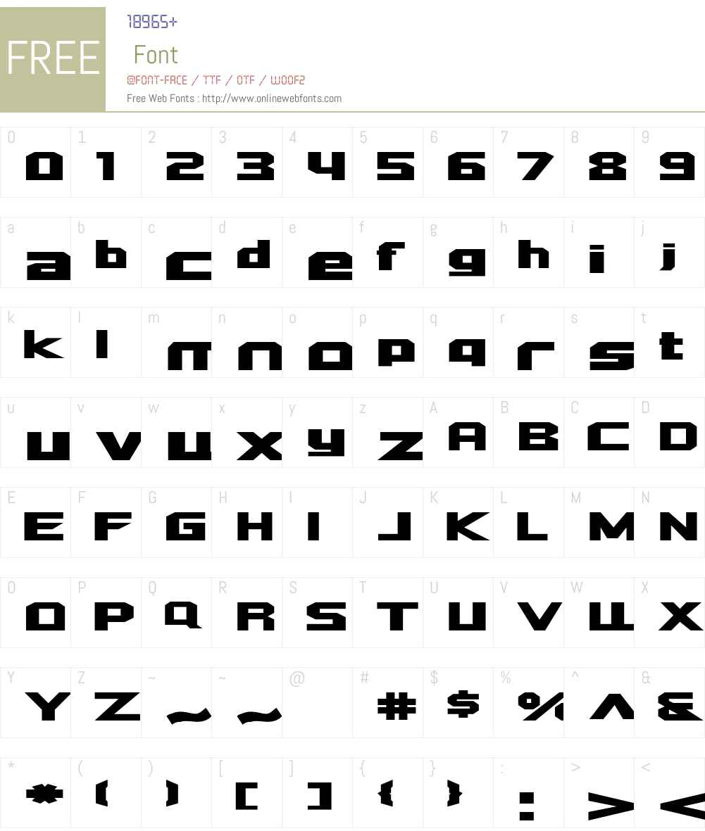 Quadrang Font Screenshots