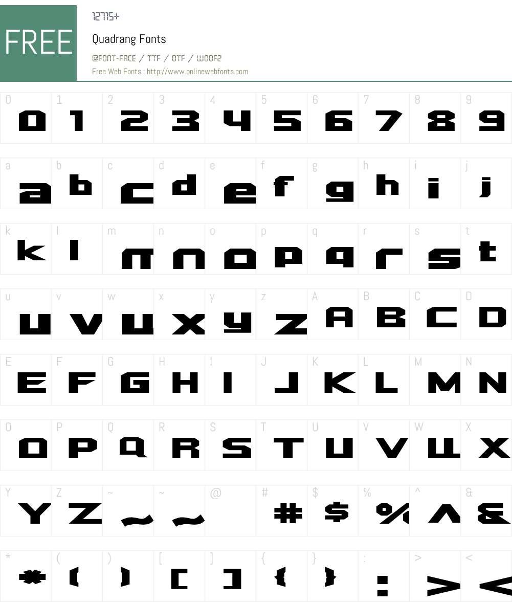 Quadrang Font Screenshots