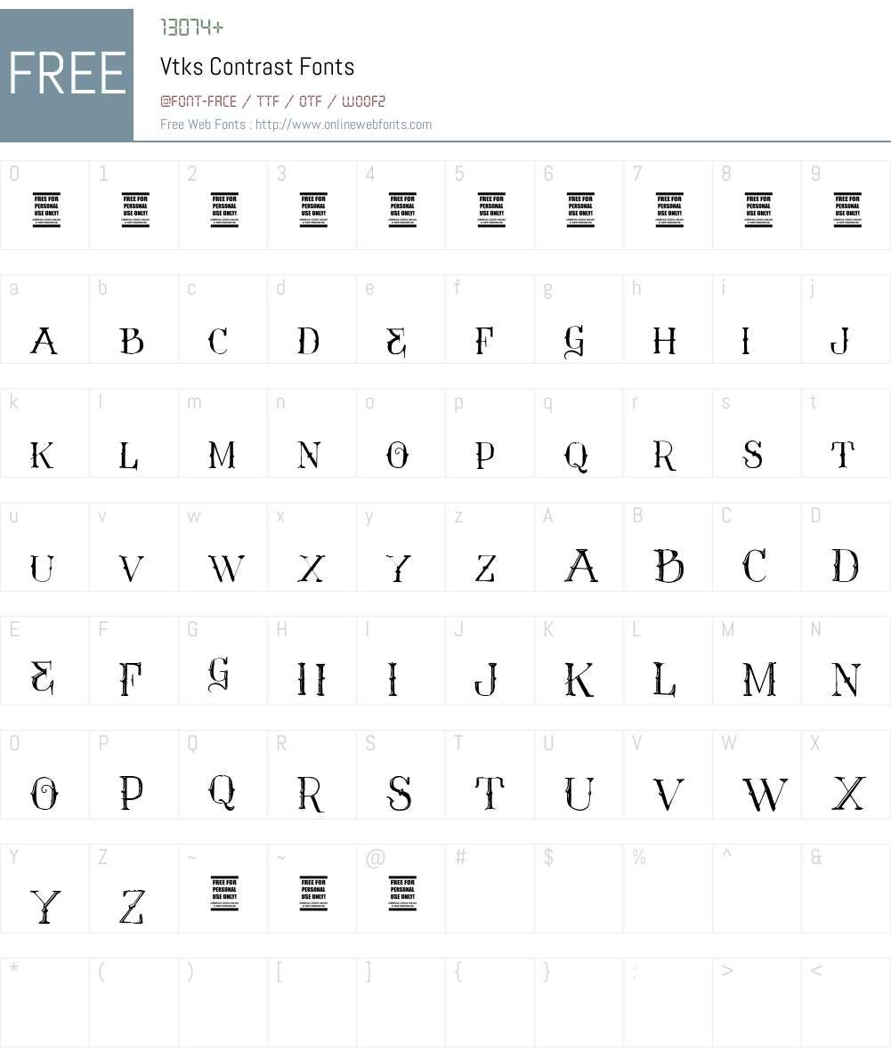 Vtks Contrast Font Screenshots