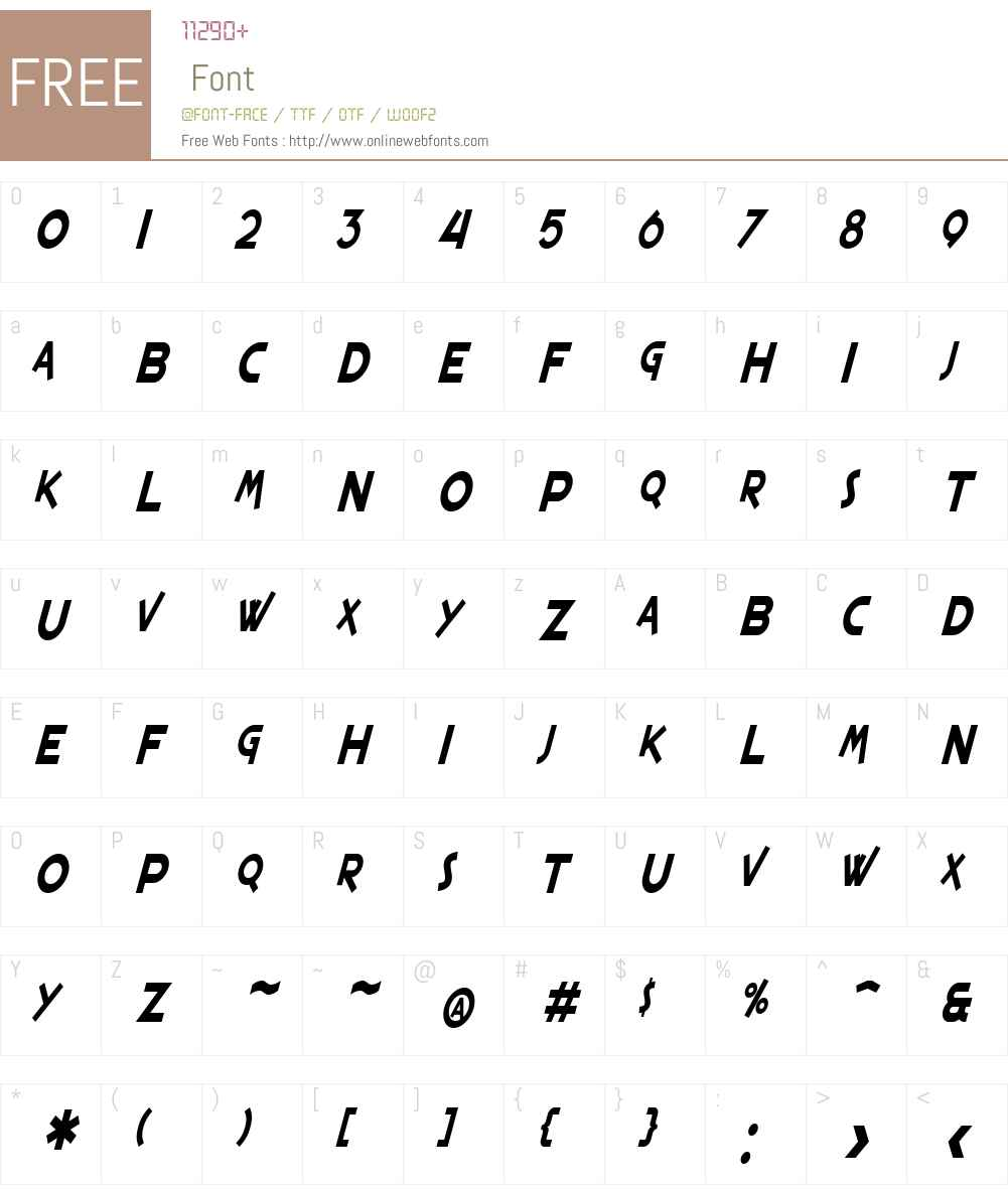 SF Espresso Shack Condensed Font Screenshots
