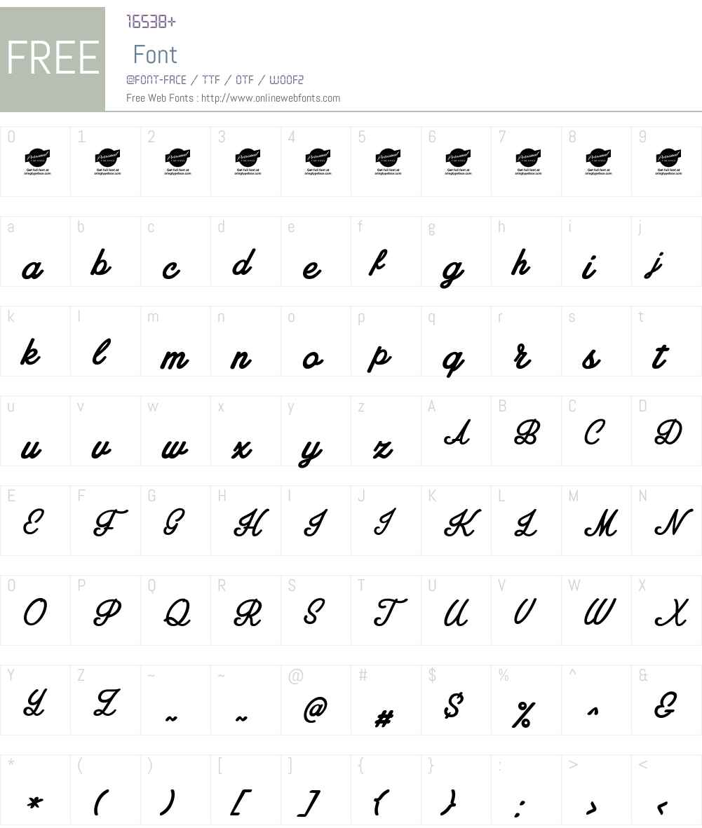 Amplify Personal Use Only Font Screenshots
