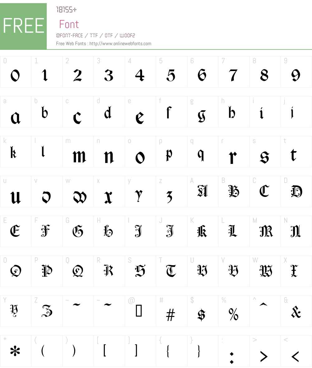 Cimbrian Font Screenshots