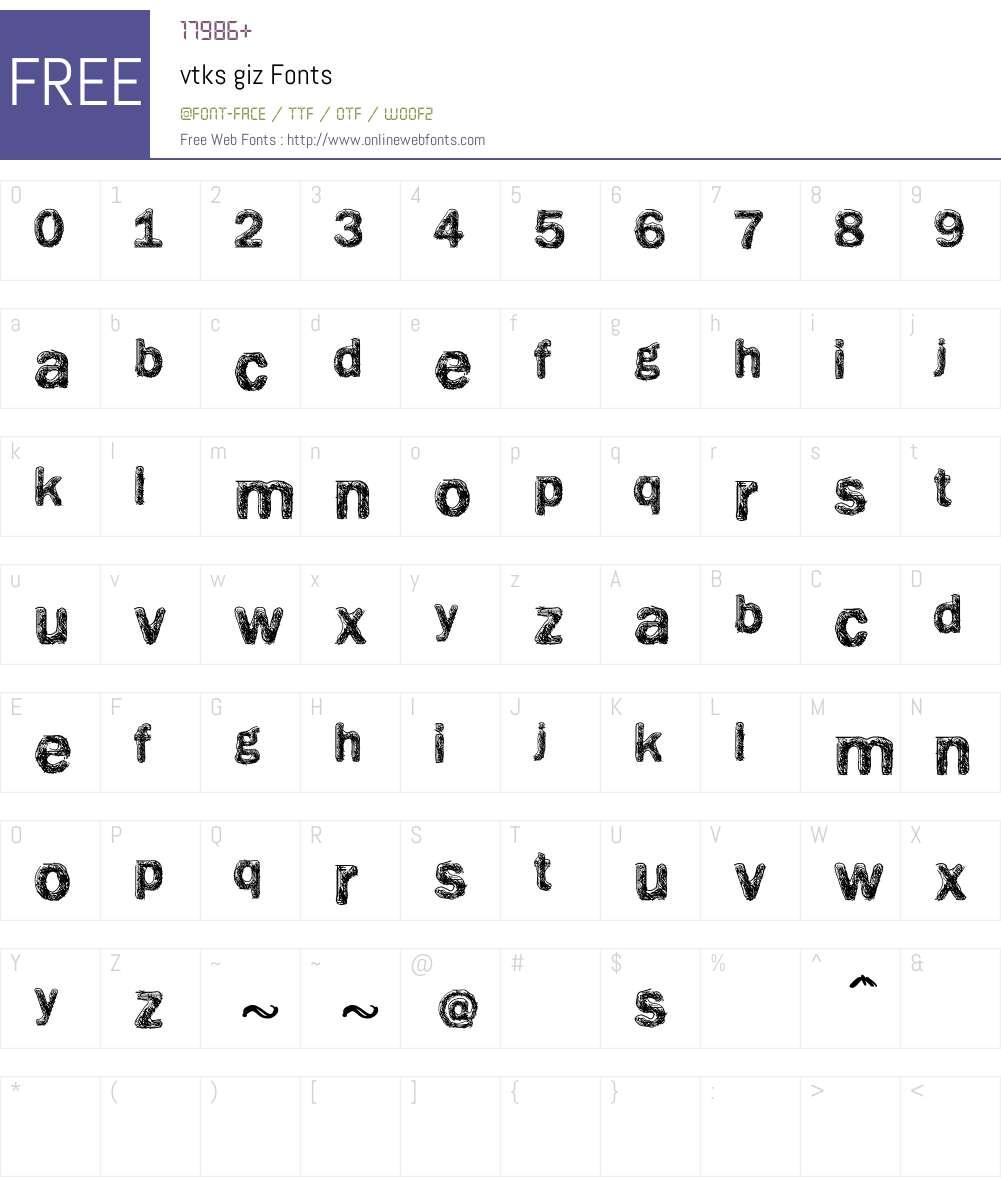 vtks giz Font Screenshots