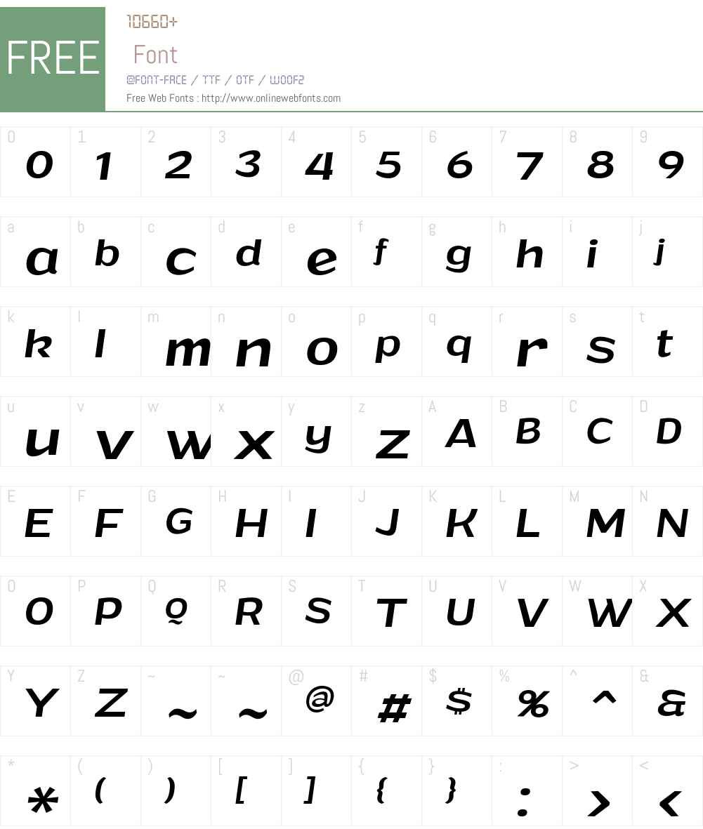 Grandi Font Screenshots