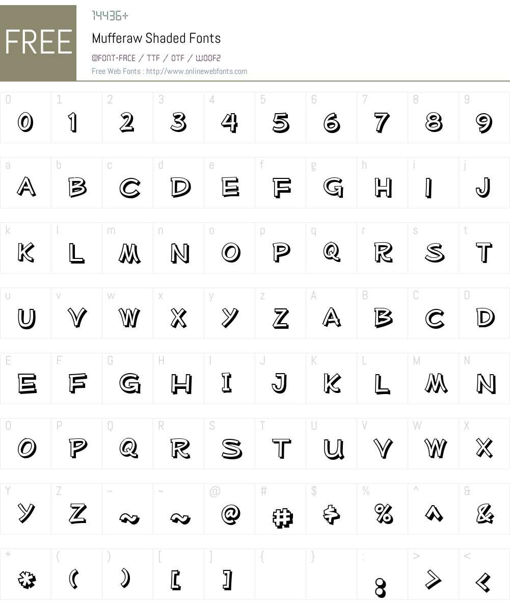 Mufferaw Shaded Font Screenshots