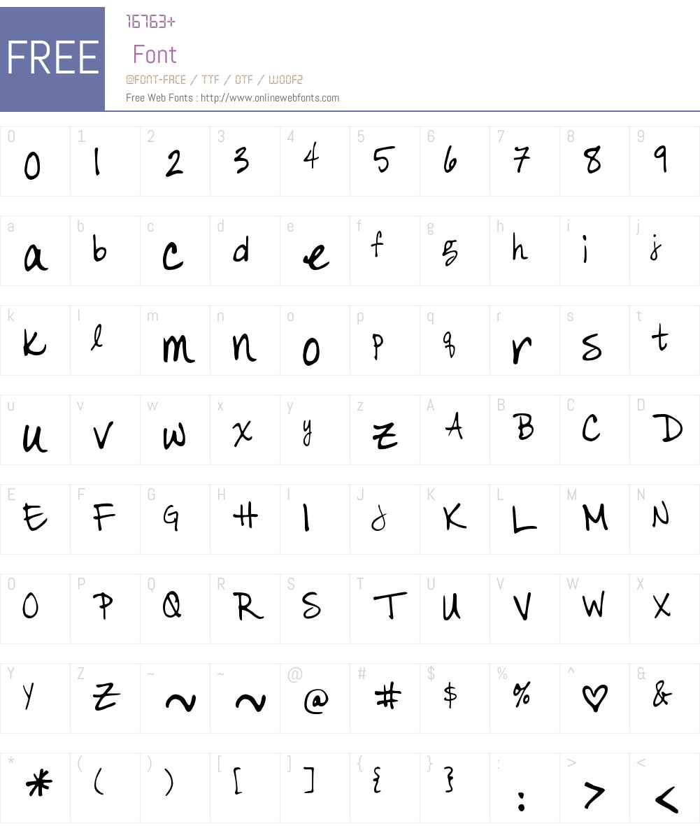 DJB Color Me Chic Font Screenshots