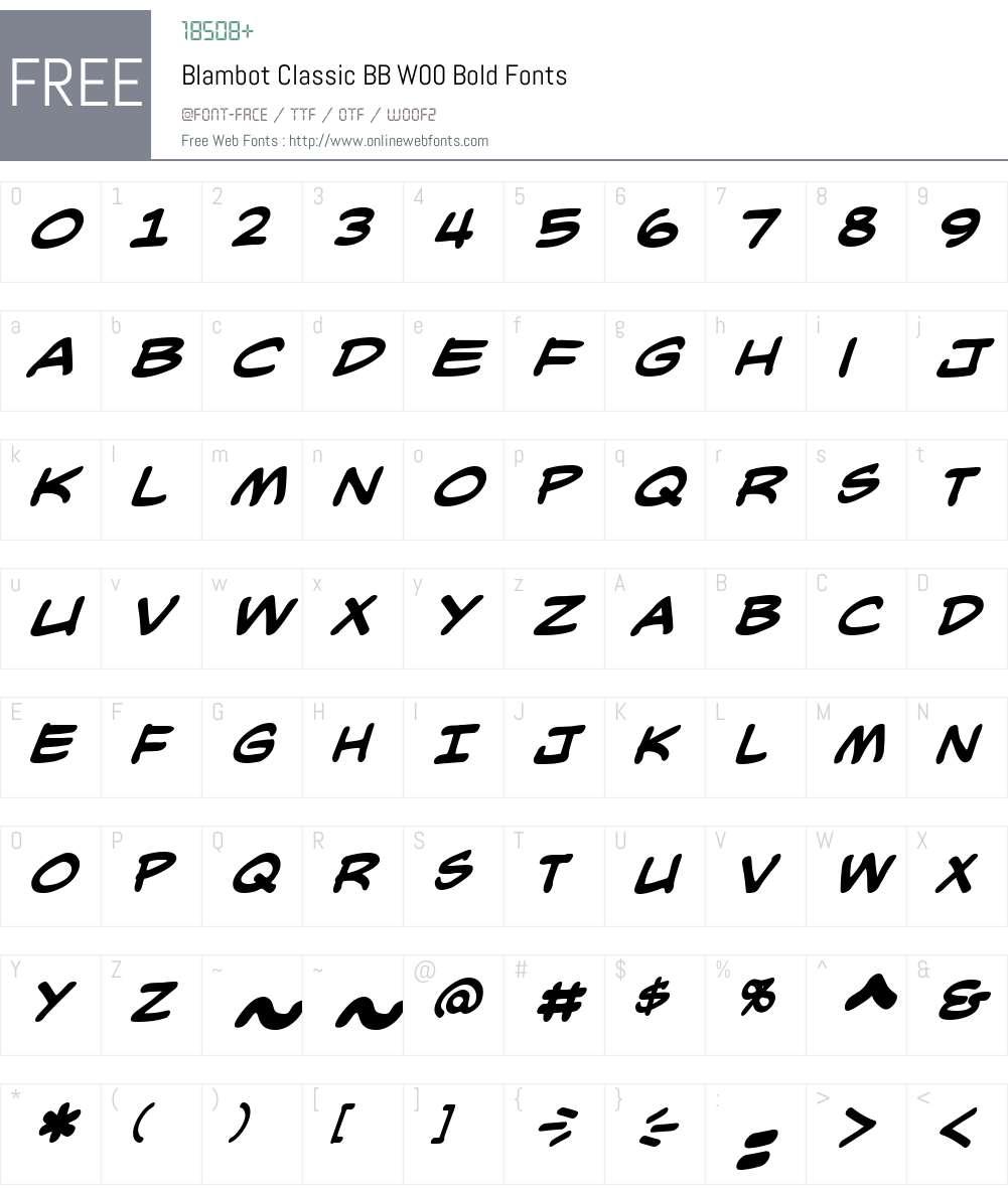 BlambotClassicBBW00-Bold Font Screenshots