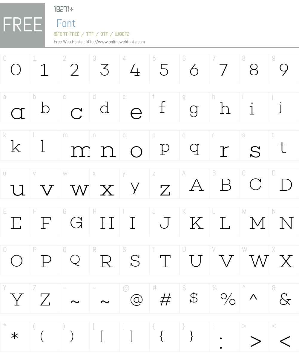 ChoplinW00-ExtraLight Font Screenshots