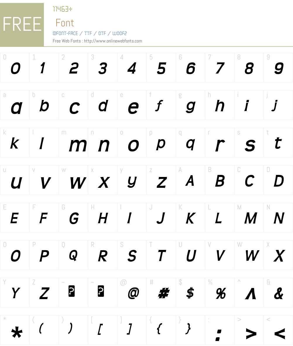 Teen Font Screenshots