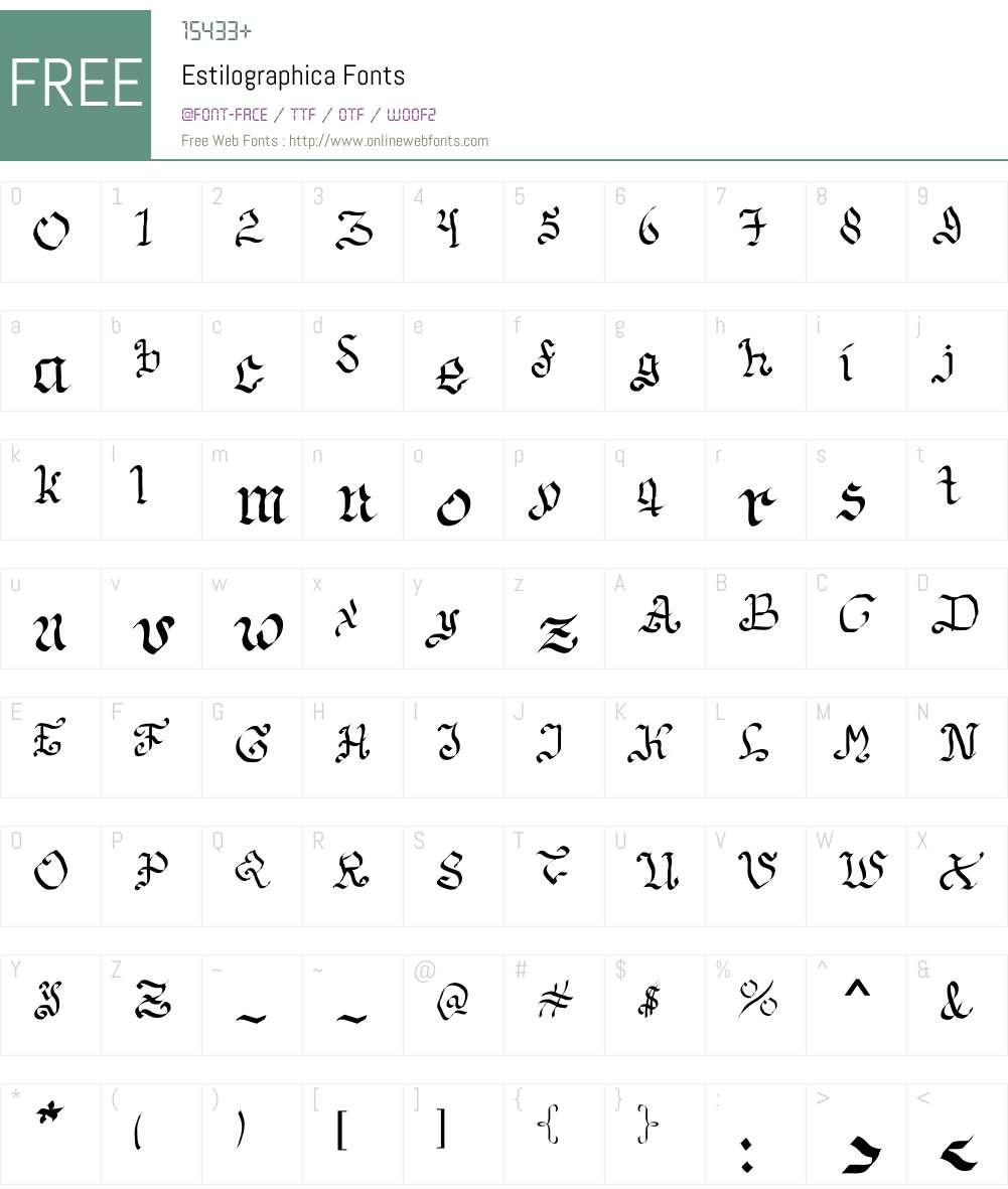 Estilographica Font Screenshots