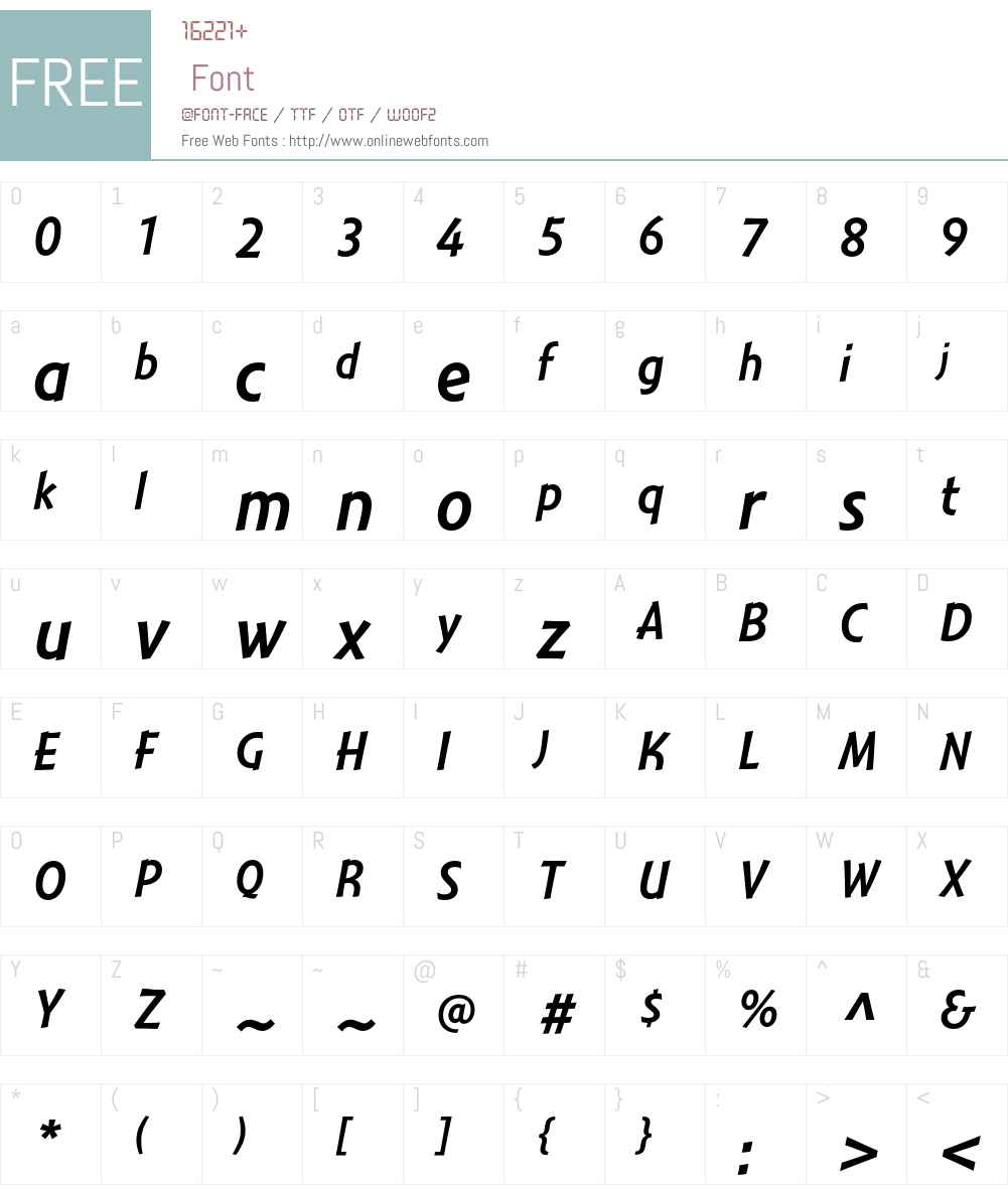 Montara Font Screenshots