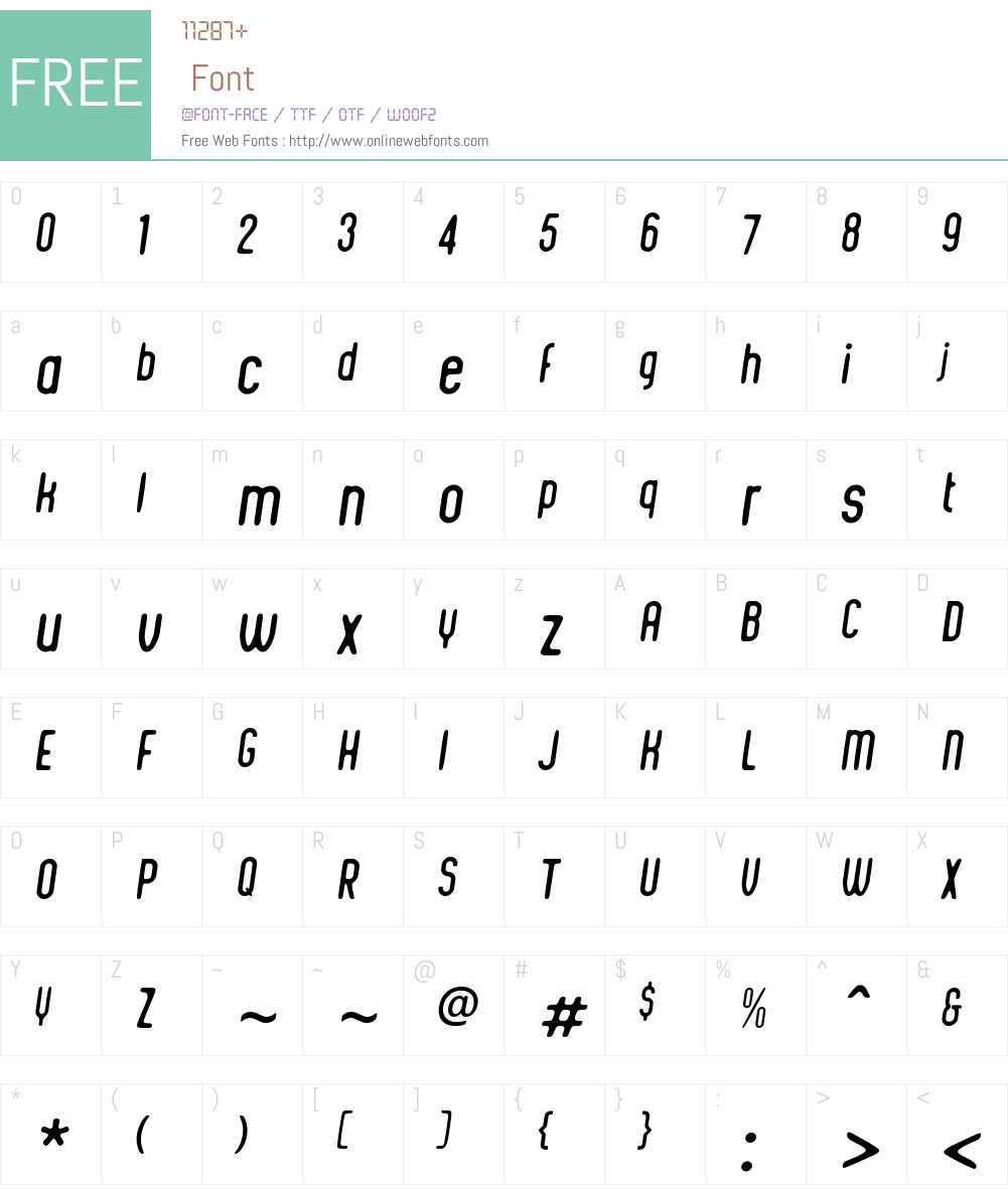 IntegraChicW00-Italic Font Screenshots