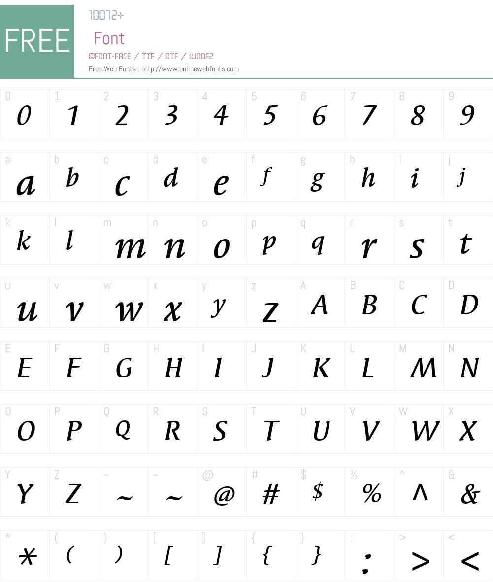 SyndorITCW01-MediumItalic Font Screenshots