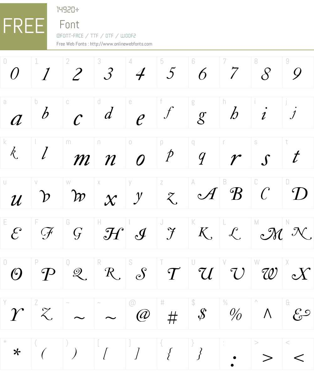 LTCCaslonSwashLongW01-SwashLong Font Screenshots