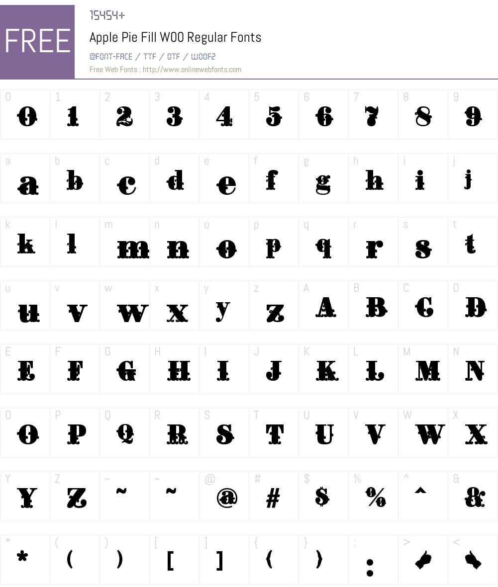 ApplePieFillW00-Regular Font Screenshots