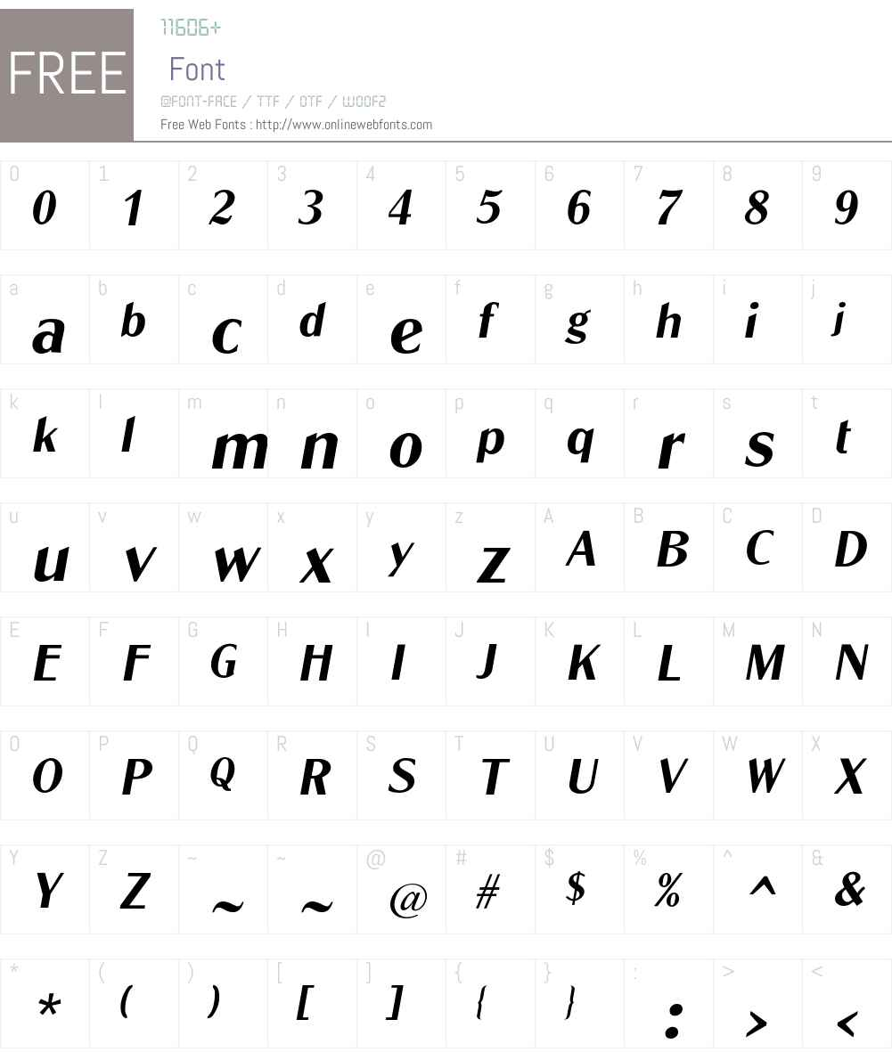 GlobeL-Oblique Font Screenshots