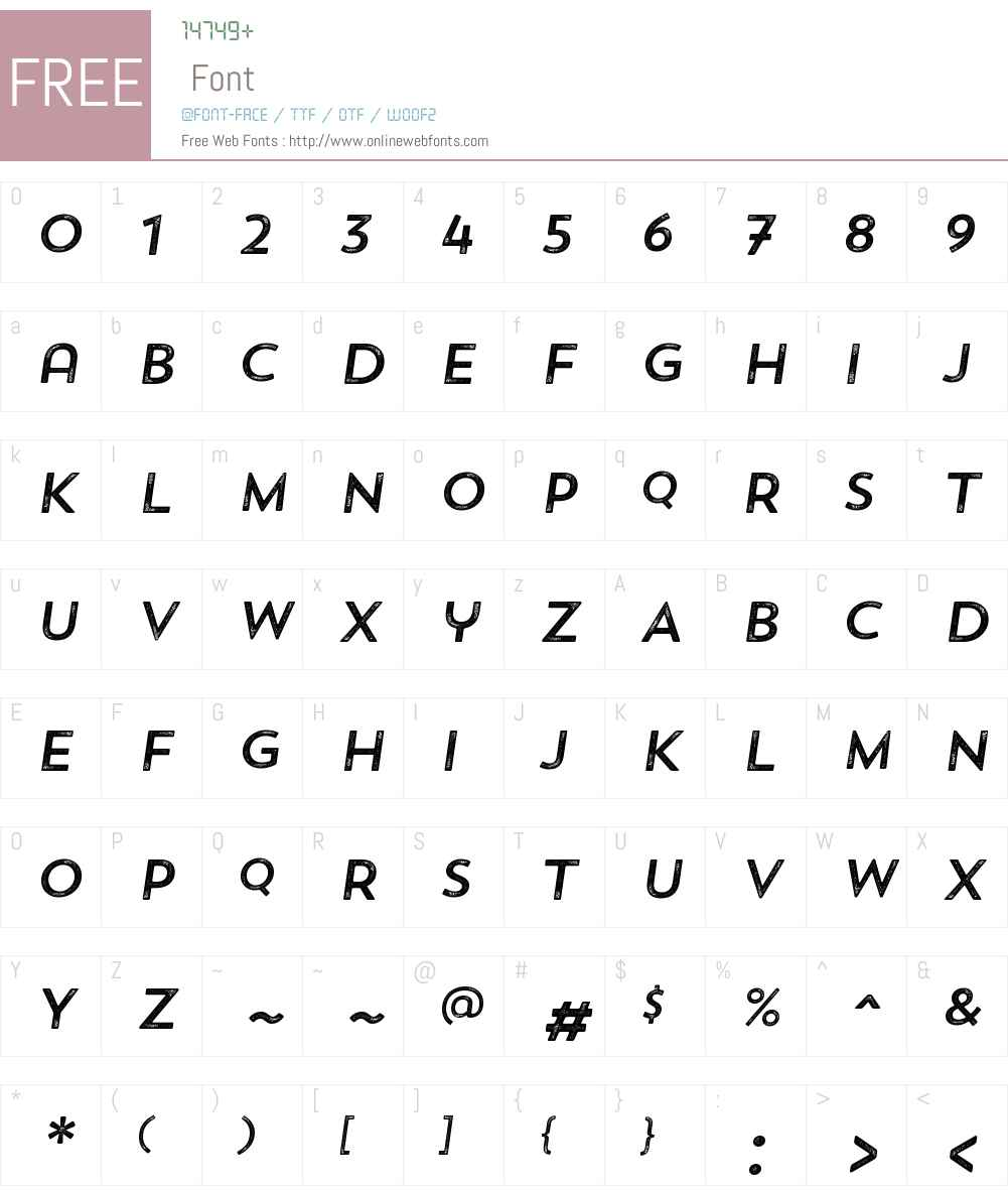 TrendRoughSansW00-OneItalic Font Screenshots