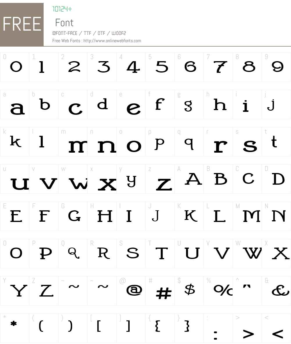 CherrittExpandedW01-ExpanRg Font Screenshots