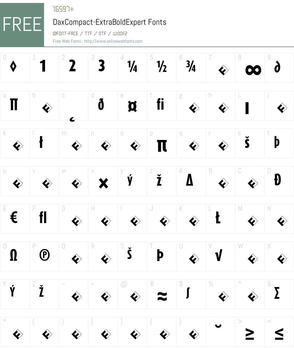 DaxCompact-ExtraBoldExpert Font Screenshots