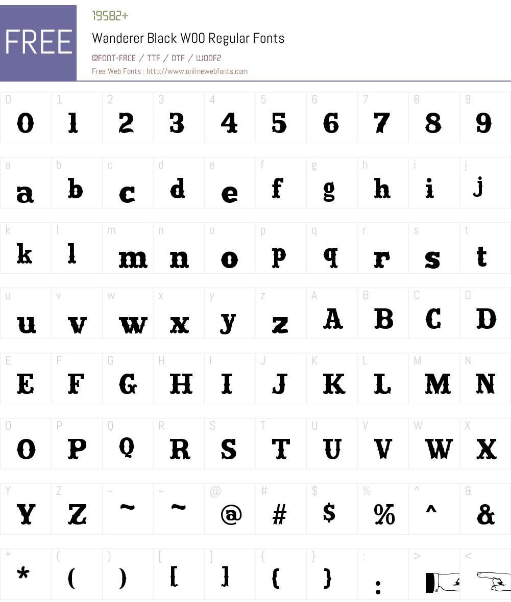 WandererBlackW00-Regular Font Screenshots