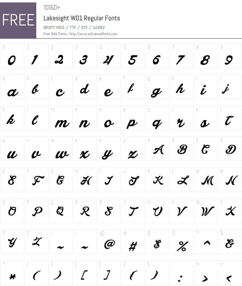 LakesightW01-Regular Font Screenshots