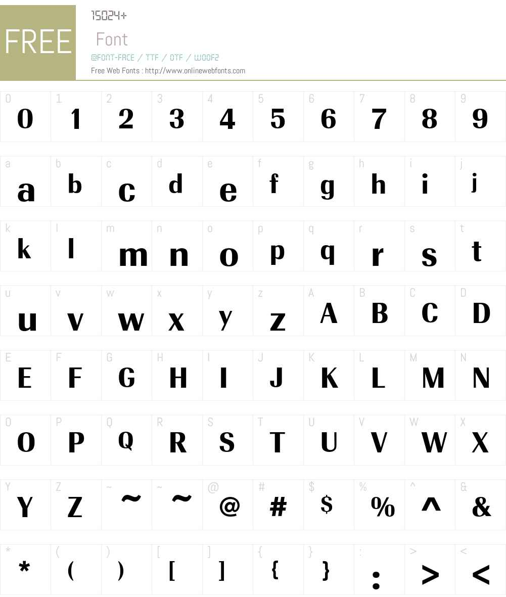RadiantEFText Font Screenshots