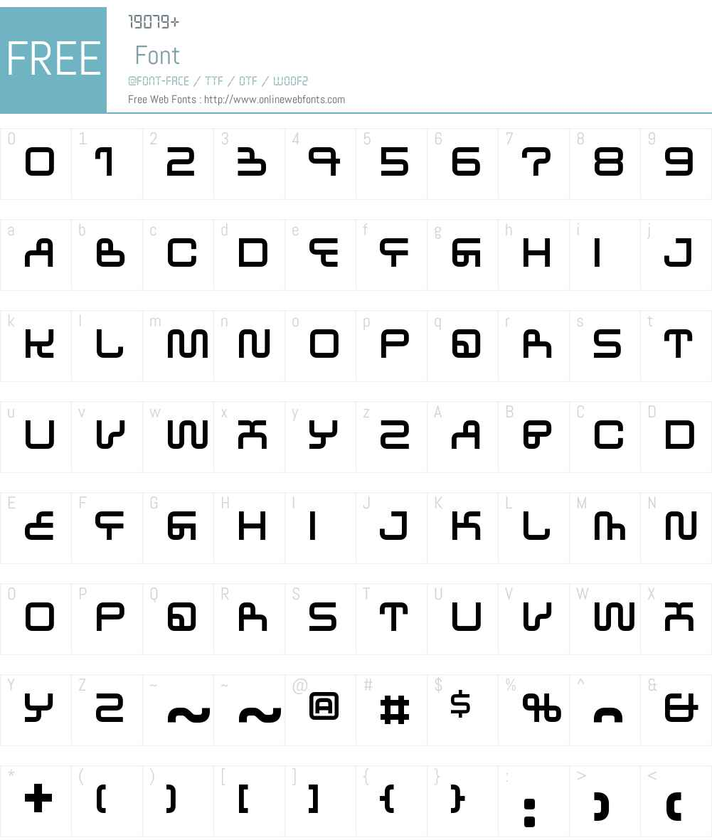 WestwayW00-Eastbound Font Screenshots