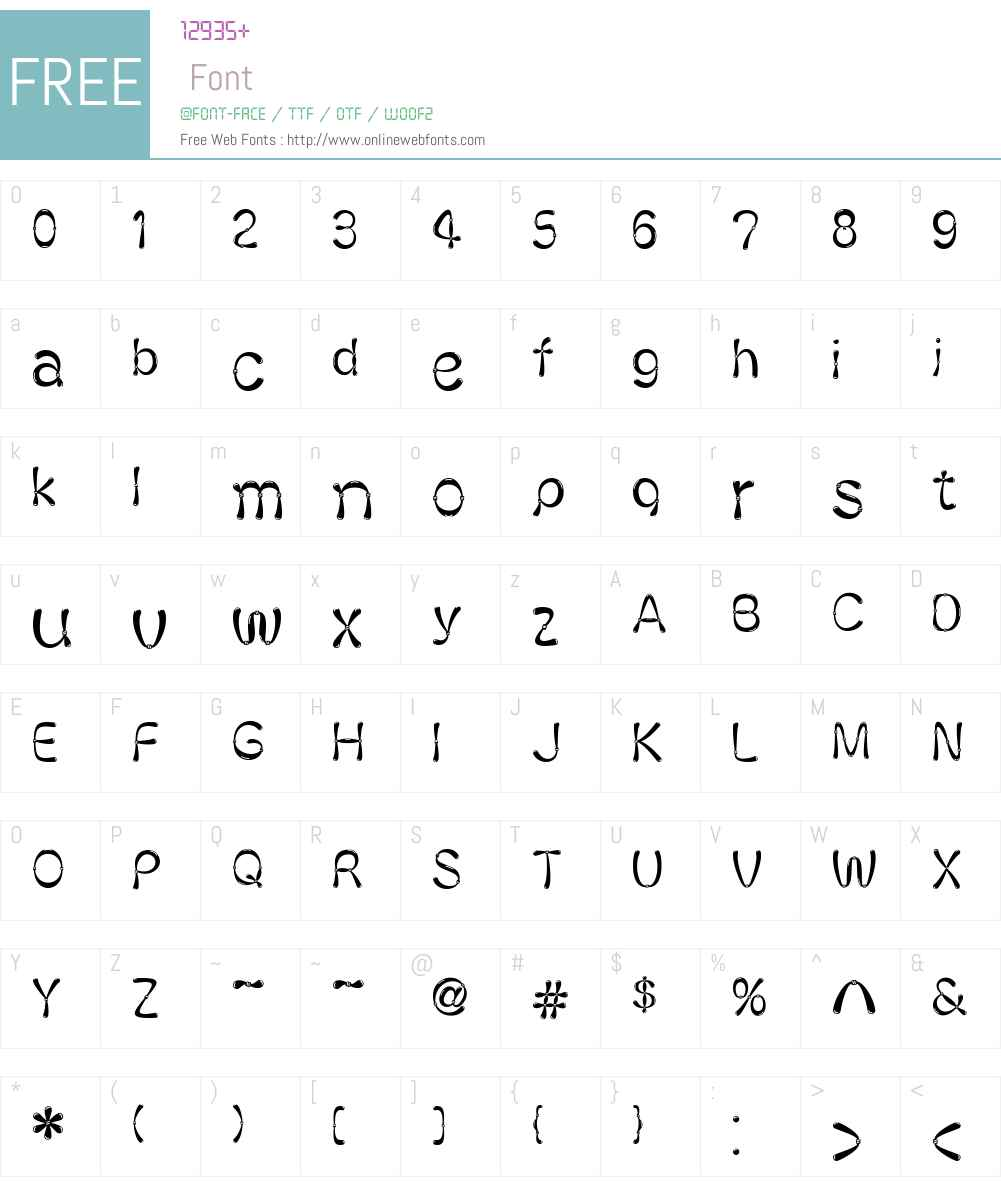 Ballon Font Screenshots