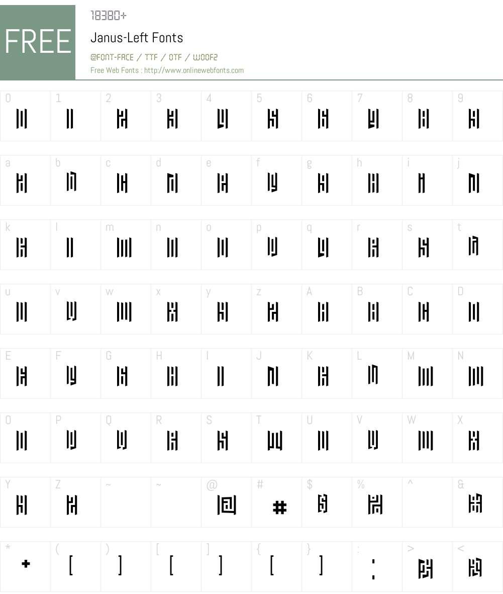 Janus Font Screenshots