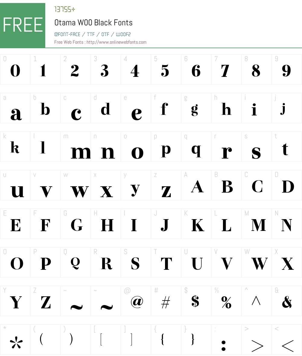 OtamaW00-Black Font Screenshots