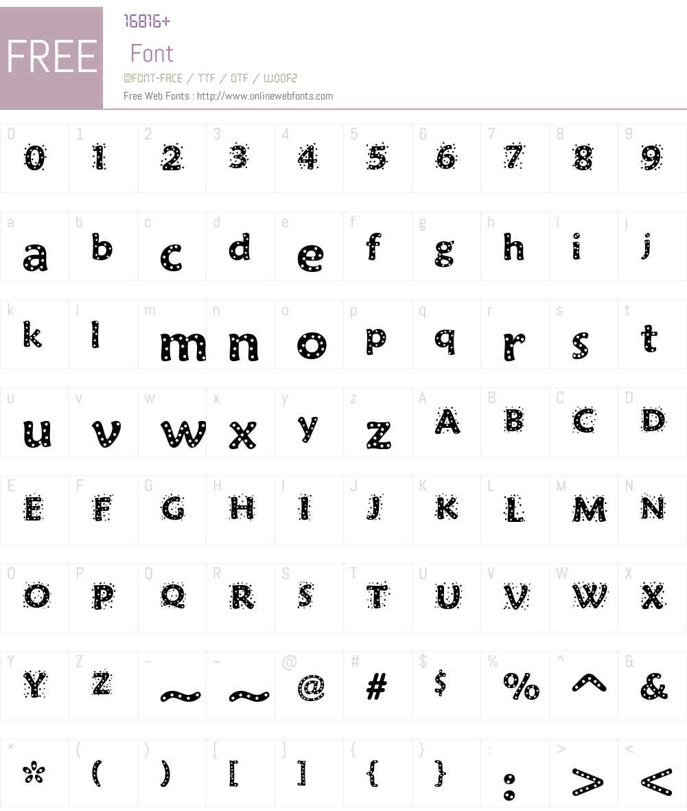 Sprinkles Font Screenshots