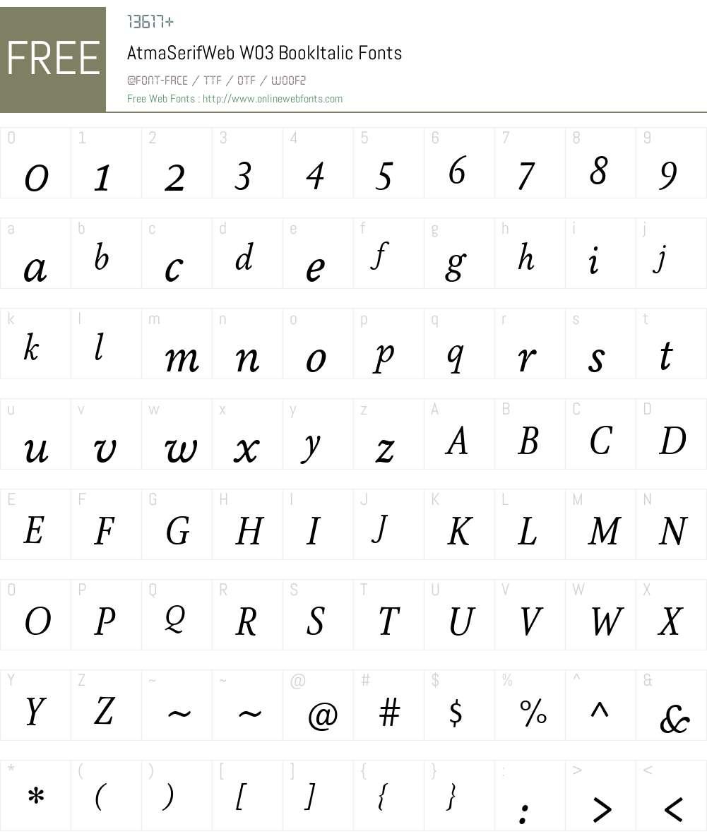 FF Atma Serif Font Screenshots