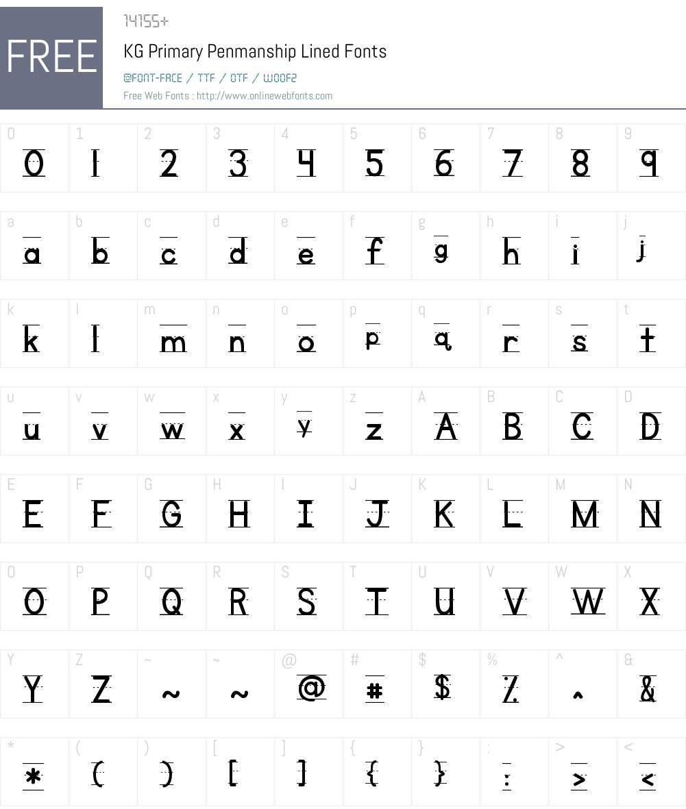 KG Primary Penmanship Lined Font Screenshots