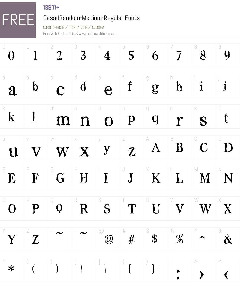CasadRandom-Medium Font Screenshots
