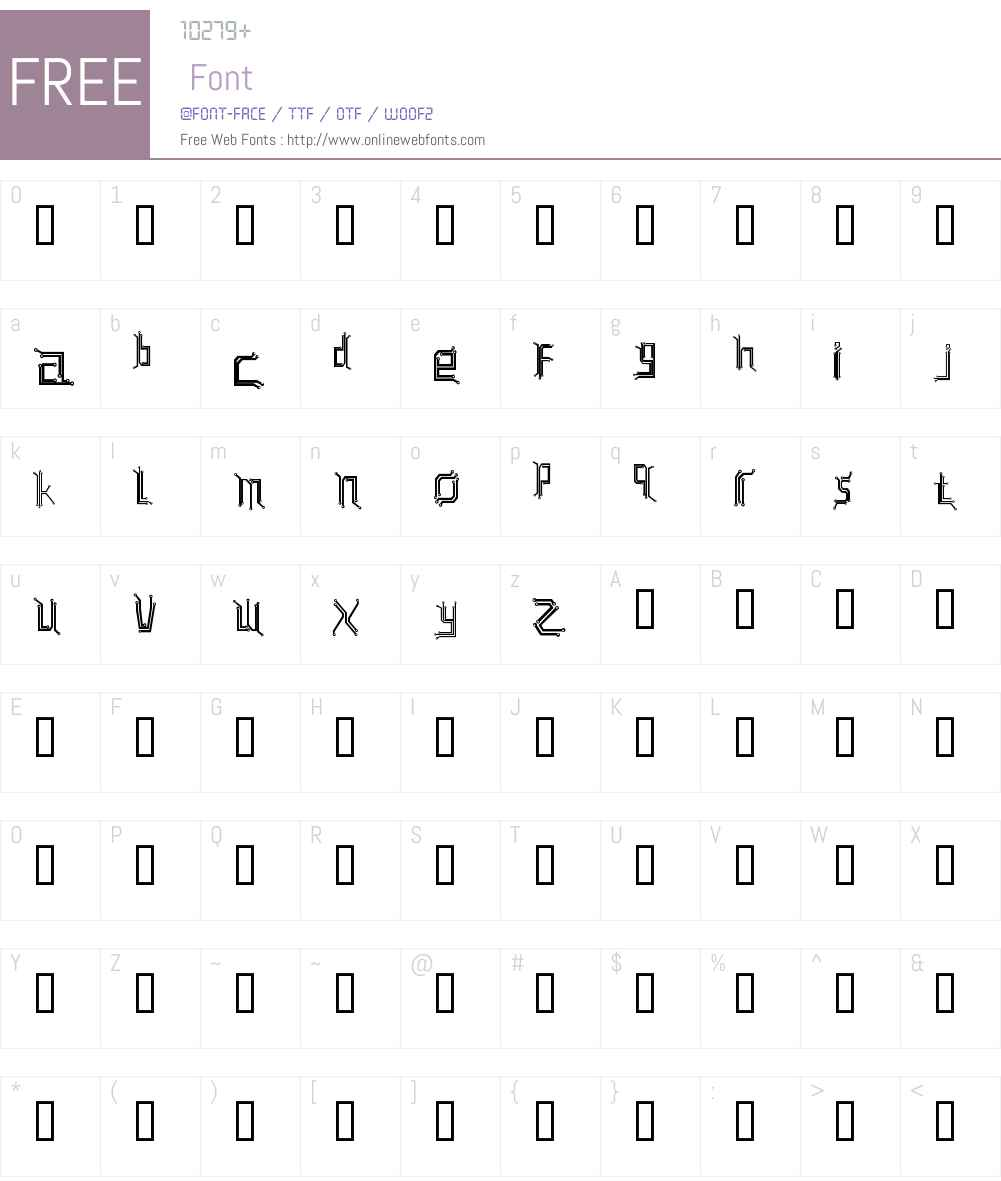 Circuit board Font Screenshots