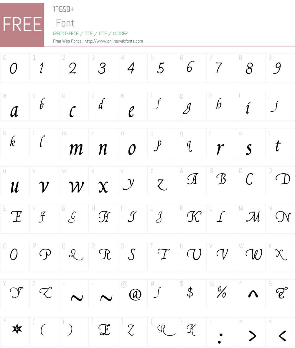 FranciscoLucas Llana Font Screenshots